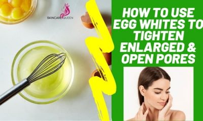 how to use egg whites to tighten enlarged open pores
