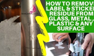 how to remove sticker residue from glass