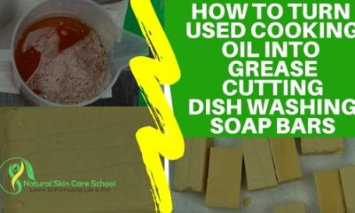 recycle used cooking oil soap